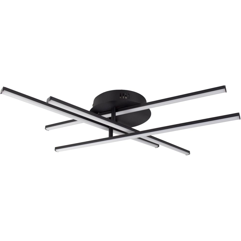 Plafondlamp modern LED - 35 watt - draaibaar - 4000K naturel wit - zwart - 4 staven - vooraanzicht