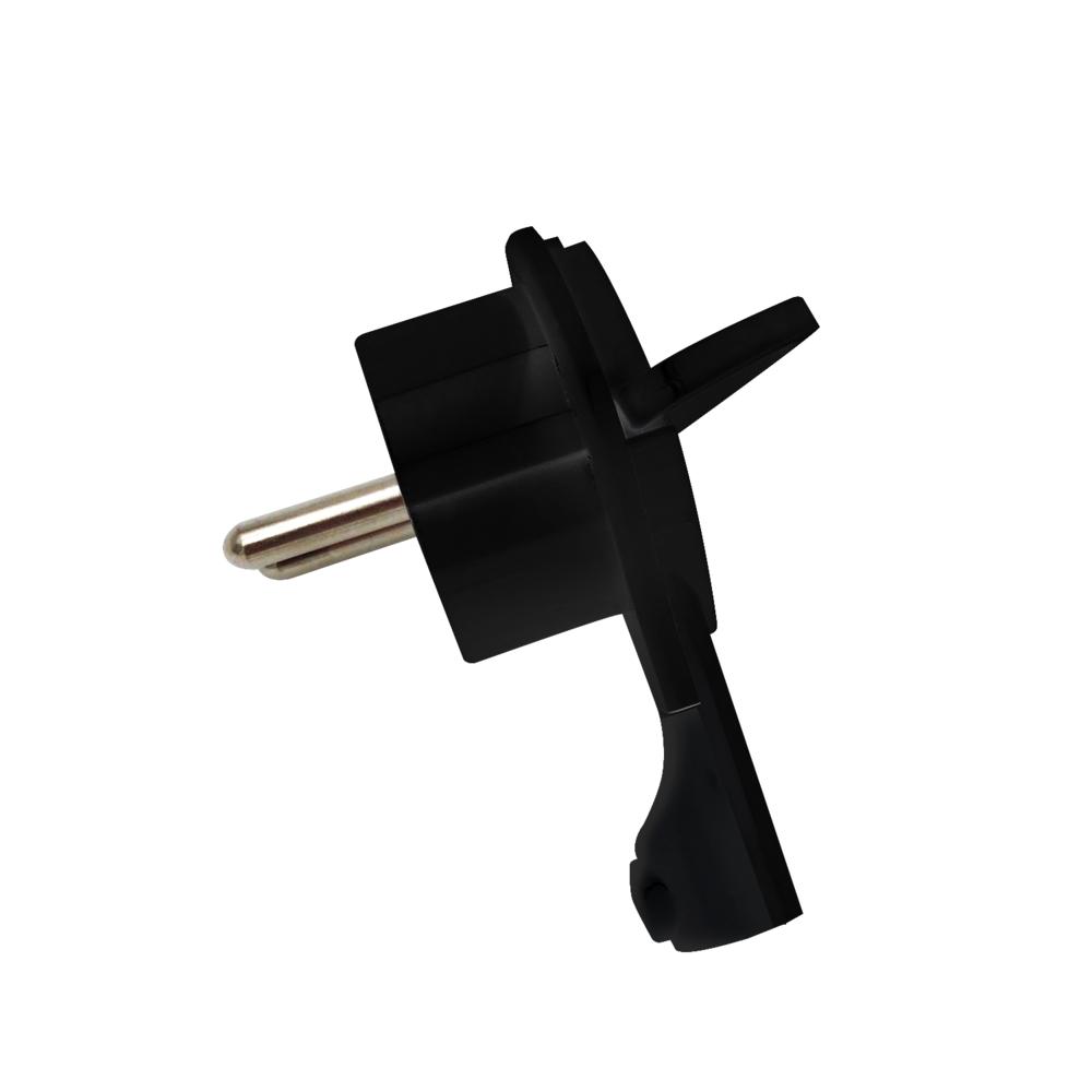 Kunststof stekker met uittrekhulp - zwart