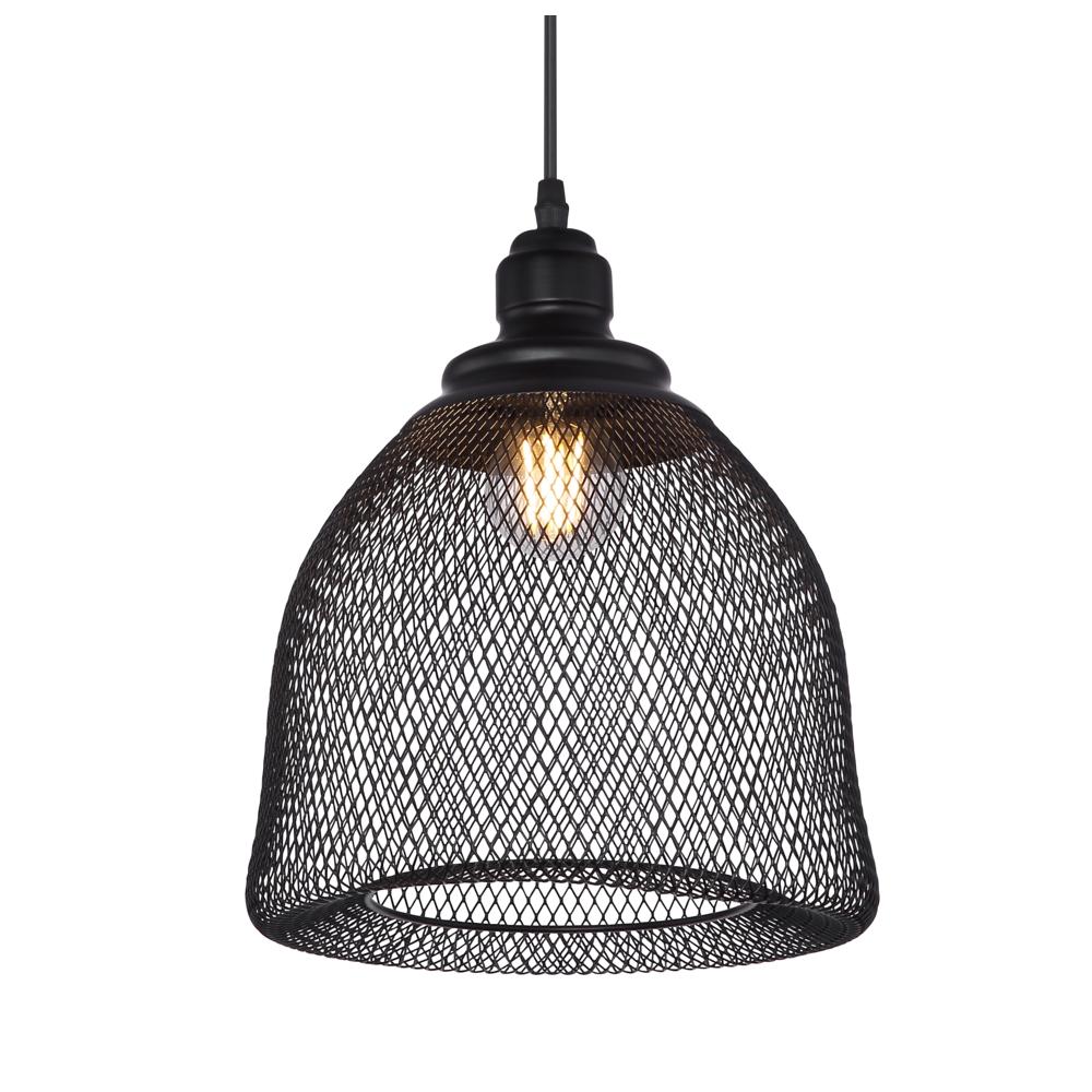 LED hanglamp mesh metaal e27 fitting - lampenkap