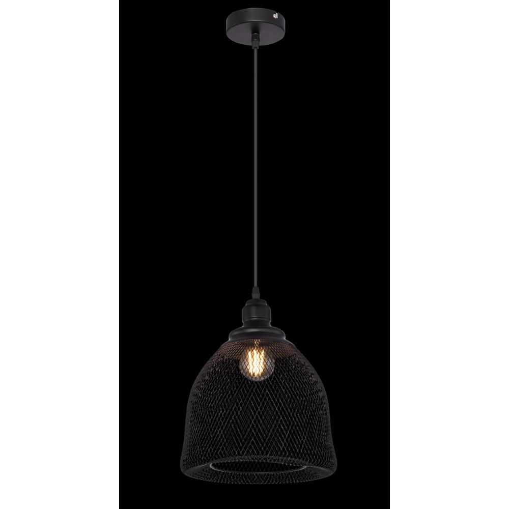 LED hanglamp mesh metaal e27 fitting - donkere achtergrond