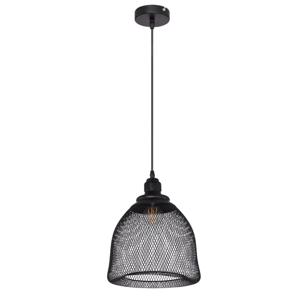 LED hanglamp mesh metaal e27 fitting - vooraanzicht lamp uit
