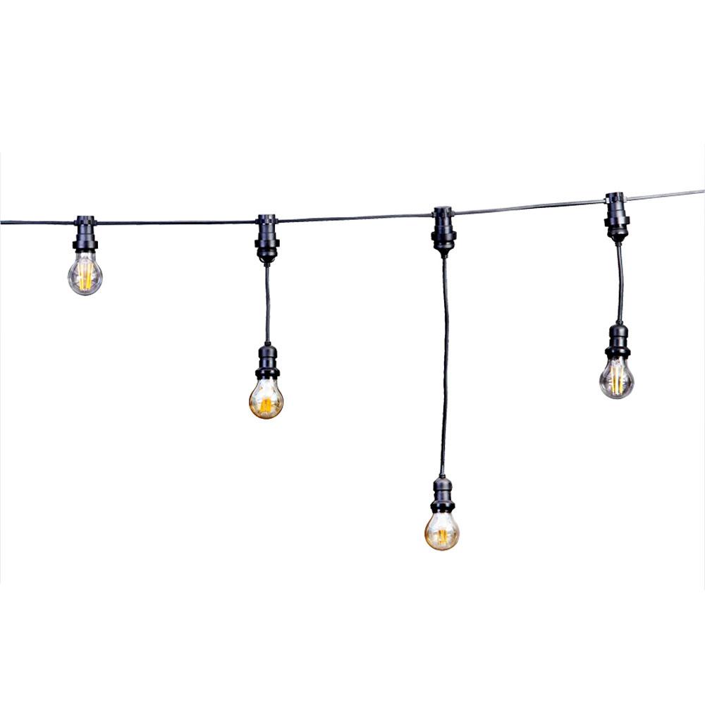 Prikkabel zelf samenstellen 10 meter zonder fittingen - voorbeeld met filament lampen