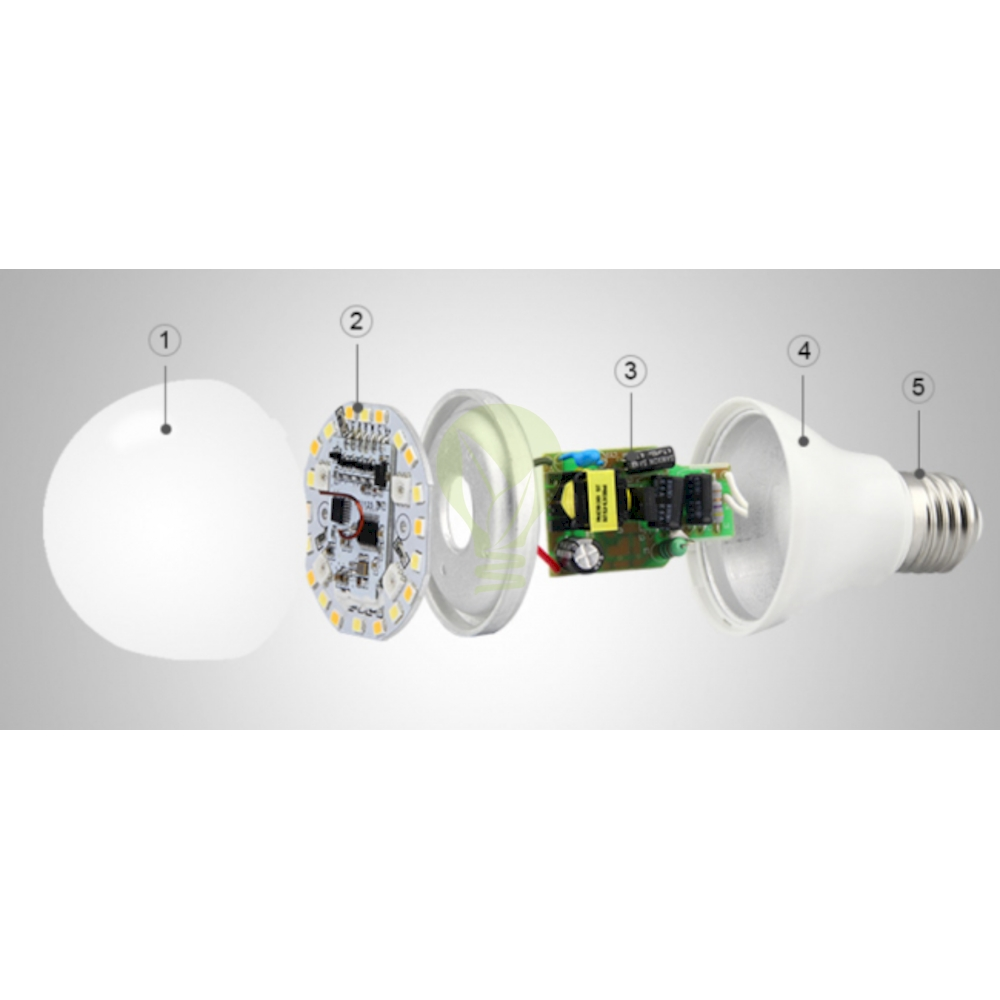 LED Lamp RGB en CCT grote fitting E27 dimbaar 6 Watt 550 lumen - onderdelen Led Lamp