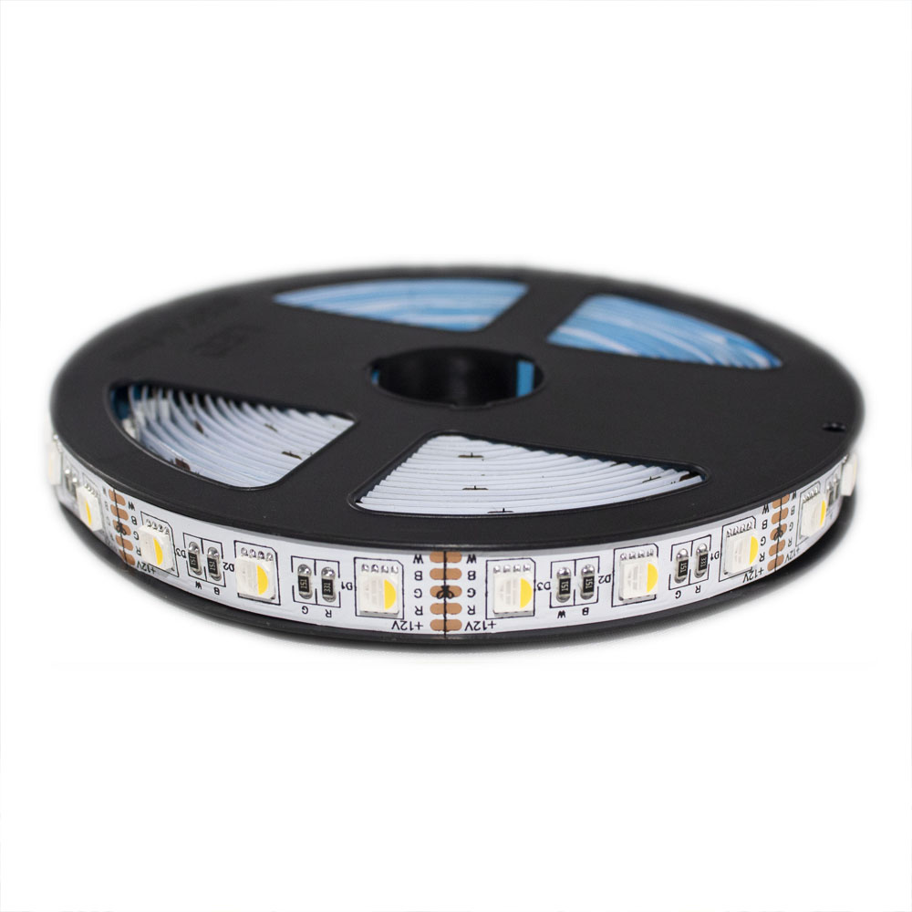 LED Strip 5 meter RGB+WW - 12 volt - 5 meter rol - 5050/60 LED's