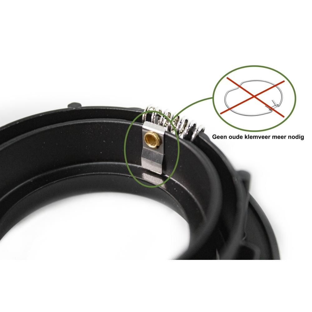 Zwarte inbouw spot zonder klemveer - 70mm - Close up