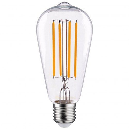 LED filament dimbare lamp 6,5 Watt Edison ST64 dimbaar grote fitting E27 2100K extra warm wit