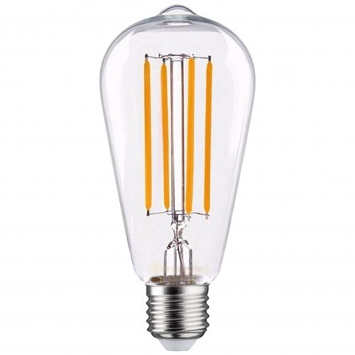 LED filament dimbare lamp 6,5 Watt Edison ST64 dimbaar grote fitting E27 2100K extra warm wit