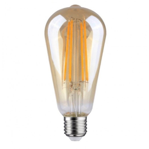 LED Filament dimbare lamp Amber glas Edison 6,5 Watt grote fitting E27 2700K Warm wit