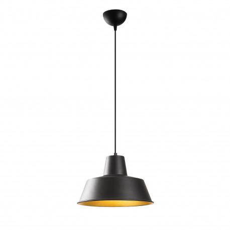 Industriële hanglamp zwart goud 30 cm - Saga