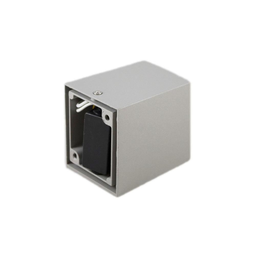 Buitenspot vierkant zilver san diego GU10 fitting - bevestiging