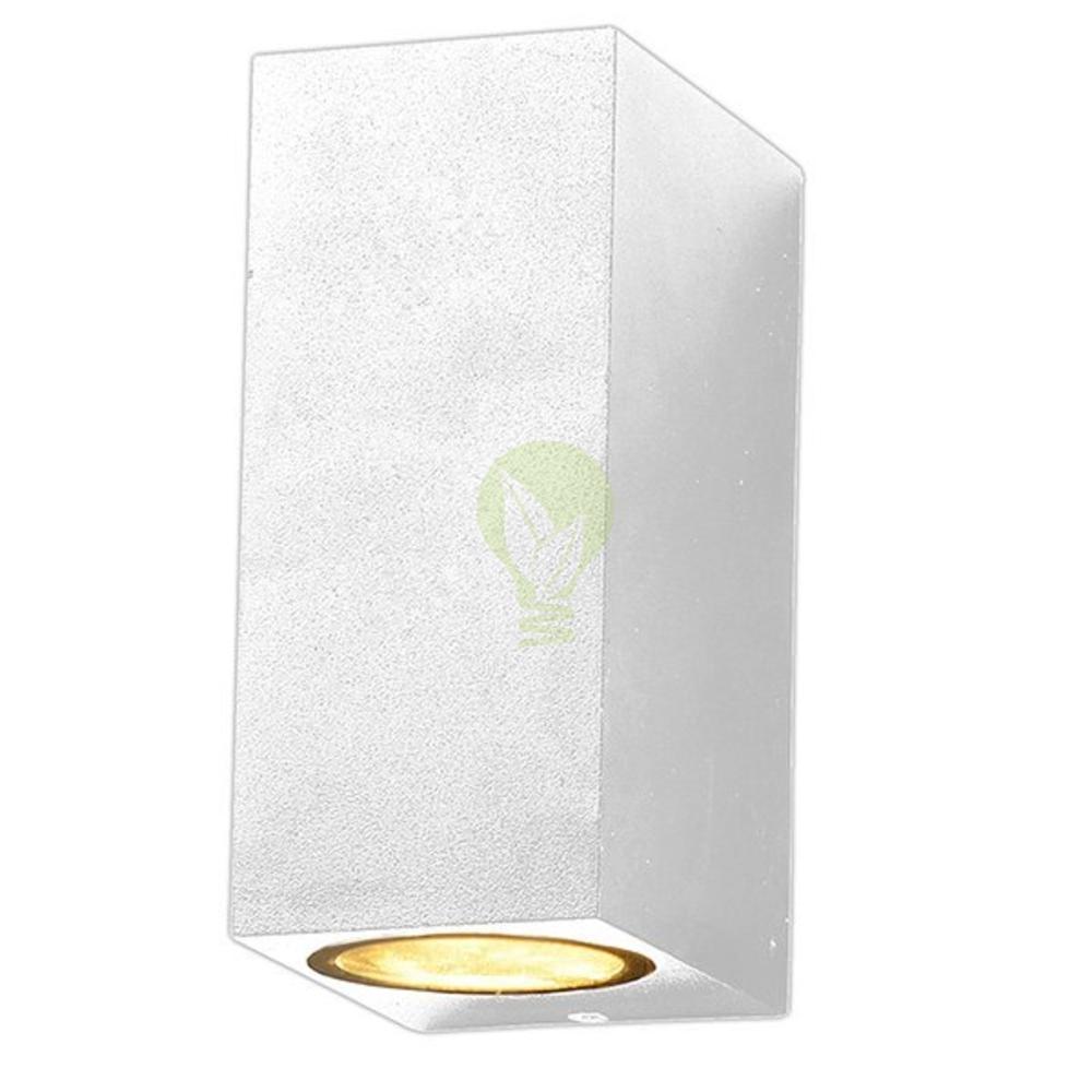 Witte buiten wandlamp - 2x GU10 fitting - IP44 - San fransisco