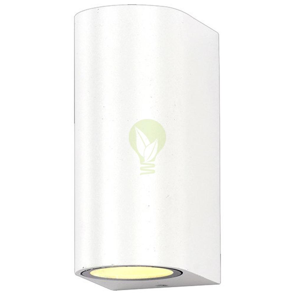 Up & down led wandlamp rond met 2x gu10 fittingen wit
