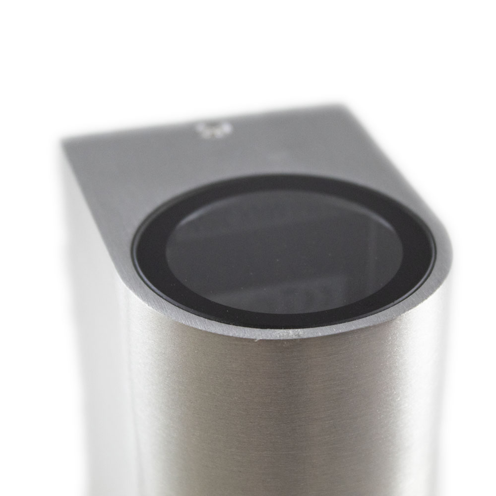 Santa Barbara aluminium vierkant 2 x GU10 fitting - bovenkant