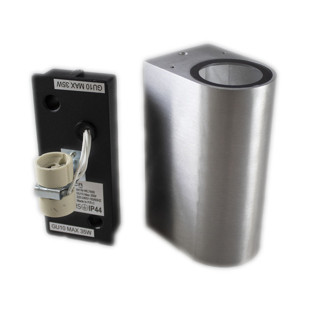 Santa Barbara aluminium vierkant 2 x GU10 fitting - onderdelen