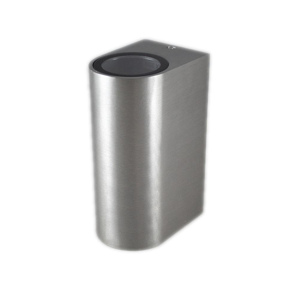 Santa Barbara aluminium vierkant 2 x GU10 fitting - zijaanzicht