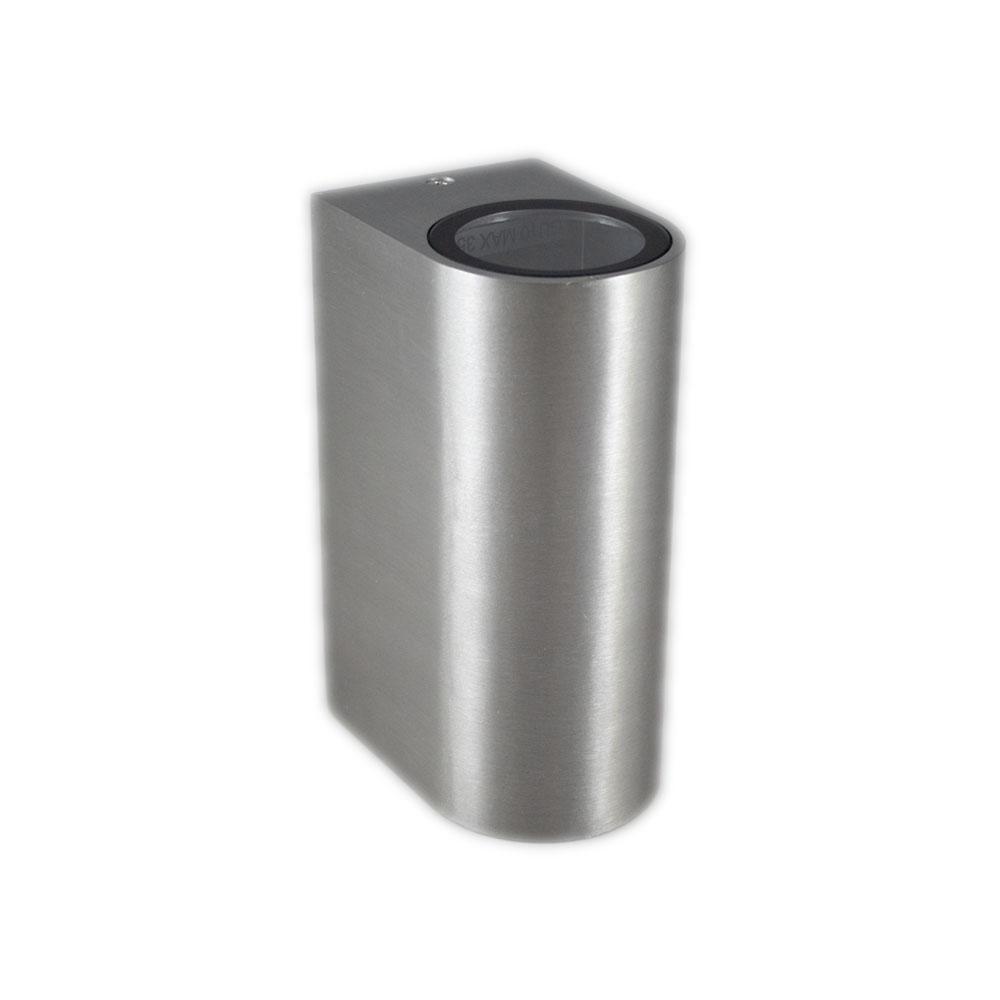 Santa Barbara aluminium vierkant 2 x GU10 fitting - vooraanzicht