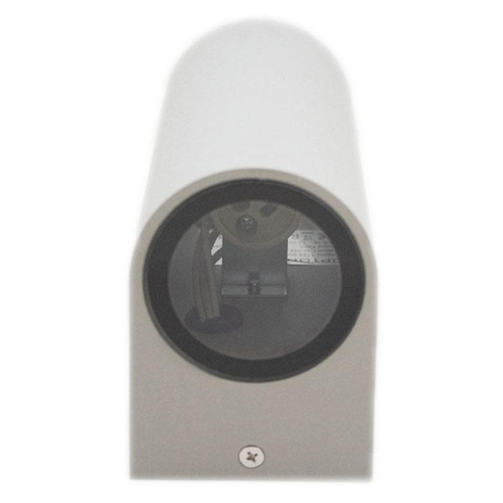 Buiten wandlamp zilver 2 keer GU10 fitting IP44 - onderkant