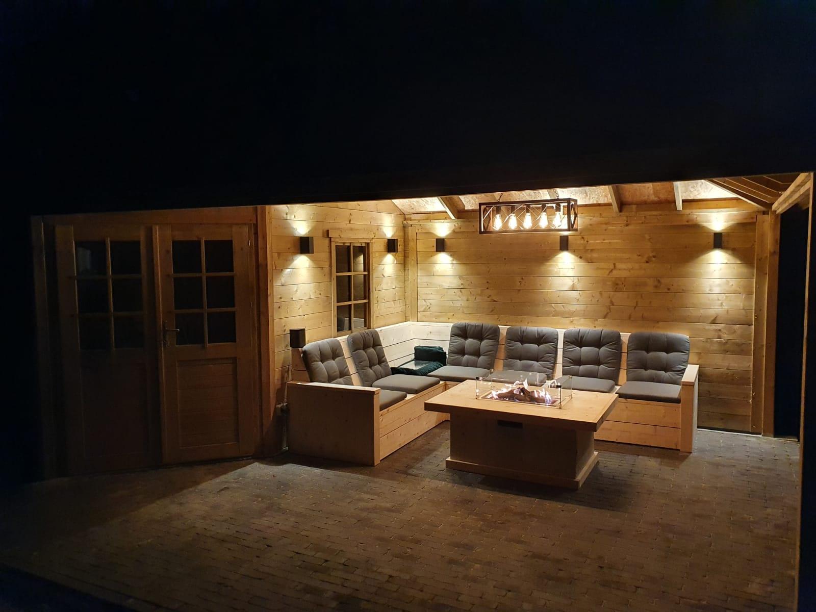 Sfeerfoto tuinverlichting - wandverlichting