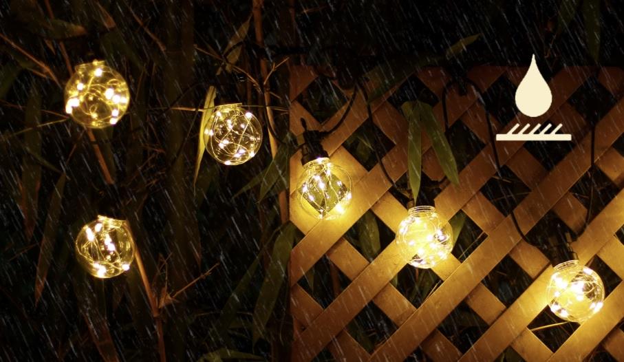 Sfeerfoto lichtsnoer - prikkabel met krul in lampen 4