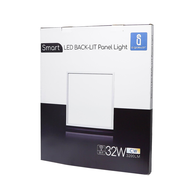 Slimme LED Paneel 60x60cm WiFi - dimbaar - CCT kleurwissel - 3000K - 4000K - 6000K - verpakking