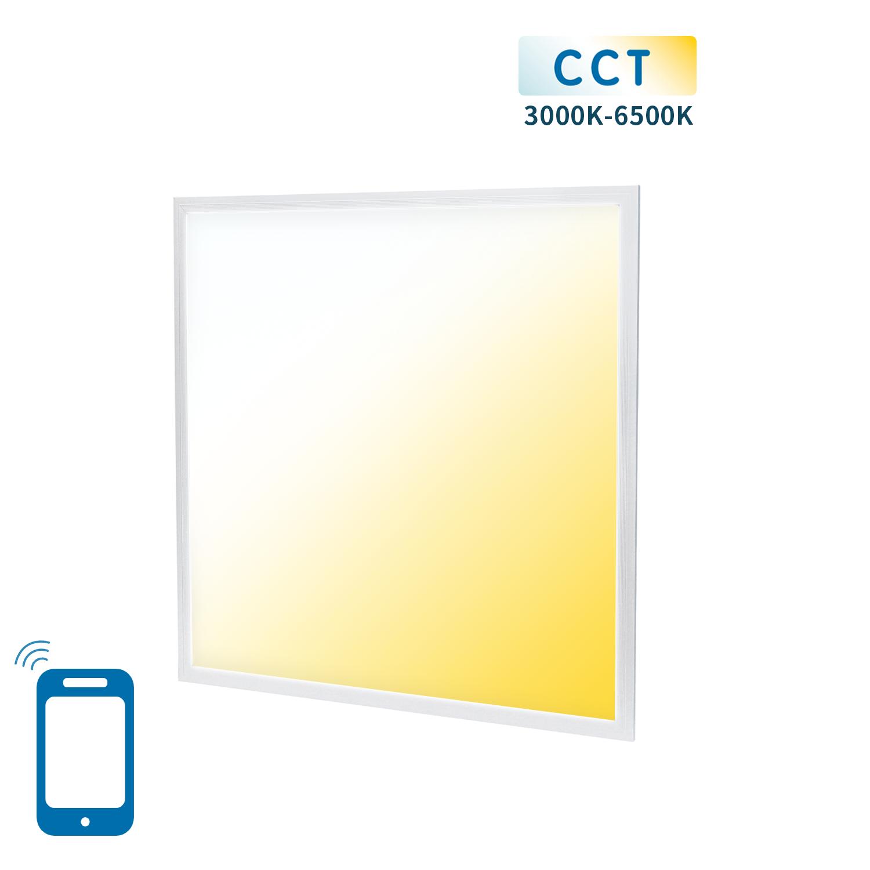 Slimme LED Paneel 60x60cm WiFi - dimbaar - CCT kleurwissel - 3000K - 4000K - 6000K - vooraanzicht