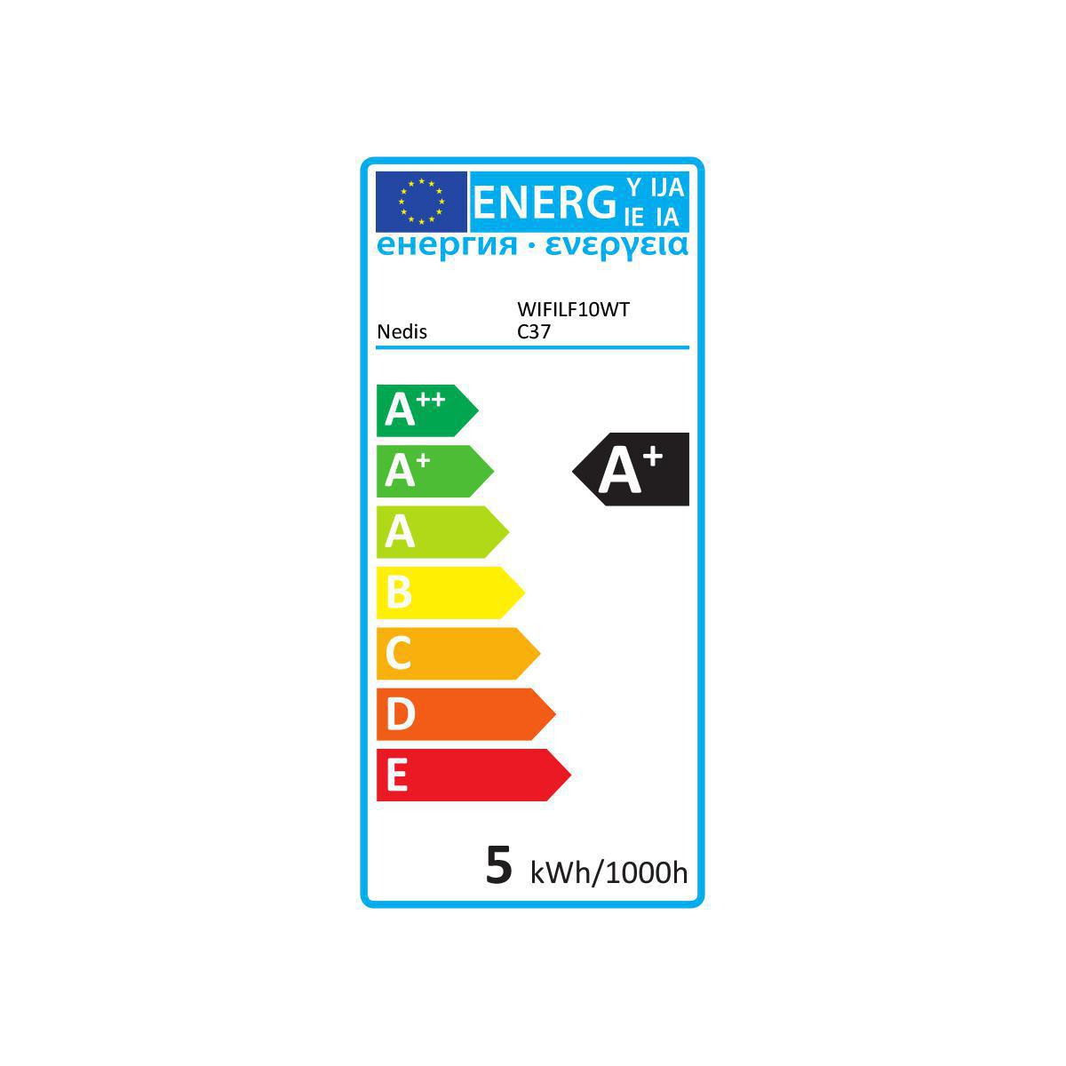 Slimme Led Lamp E14 fitting 2700K - Warm wit - energielabel