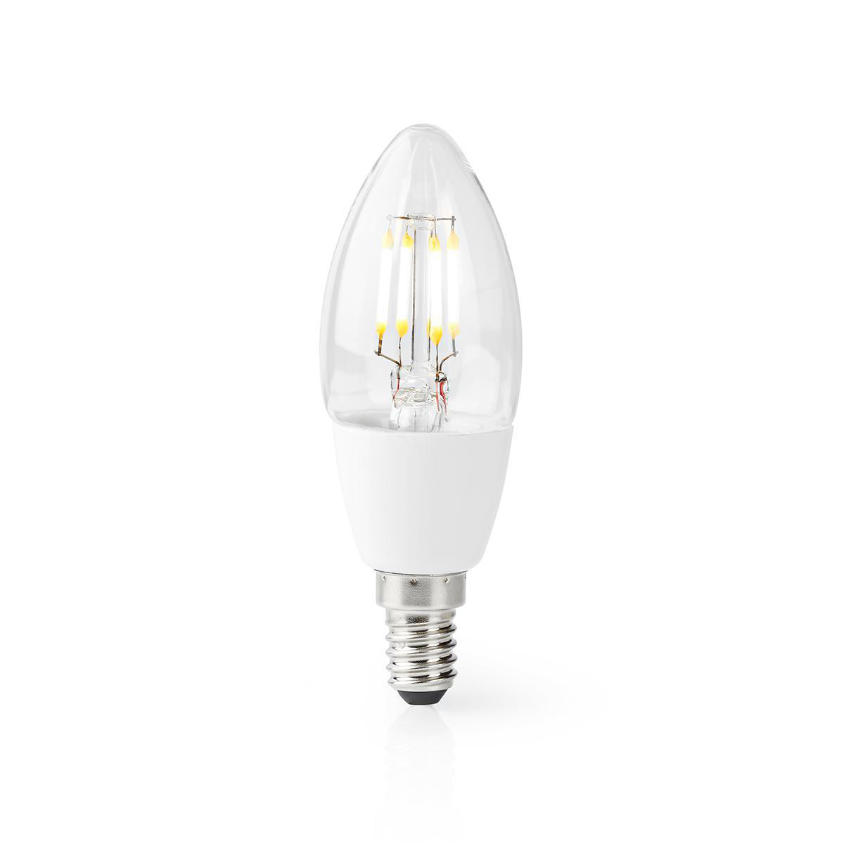 Slimme Led Lamp E14 fitting 2700K - Warm wit - lamp aan
