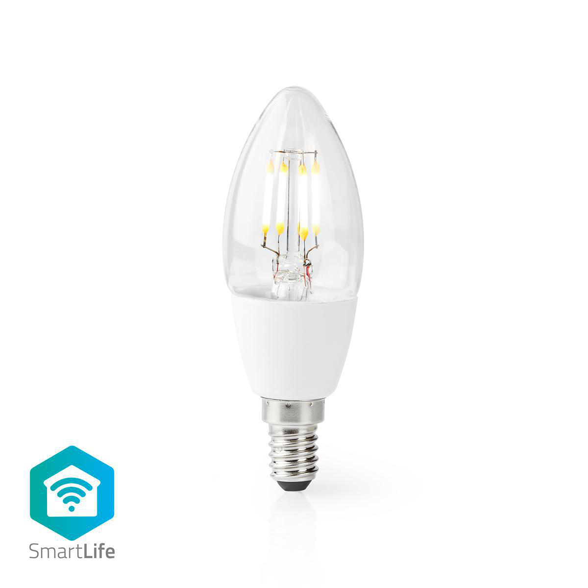 Slimme Led Lamp E14 fitting 2700K - Warm wit - vooraanzicht lamp