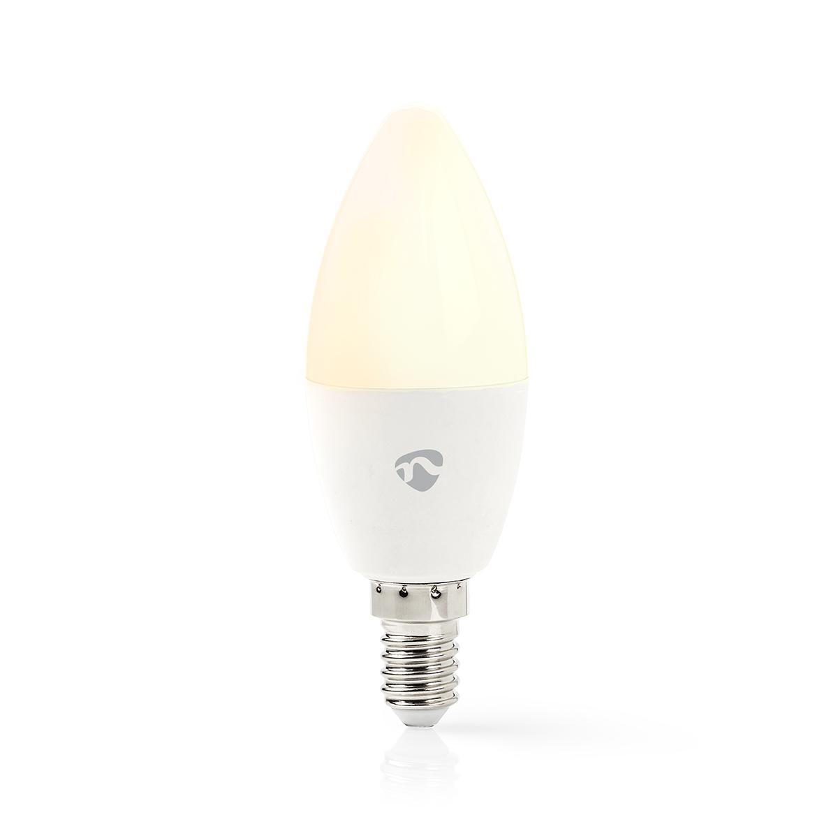 Slimme Led Lamp Wi-Fi - RGB en warm wit E14 - lamp aan