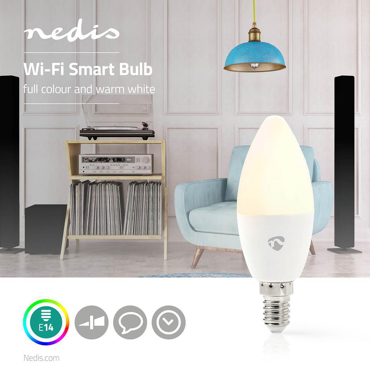 Slimme Led Lamp Wi-Fi - RGB en warm wit E14 - sfeerfoto