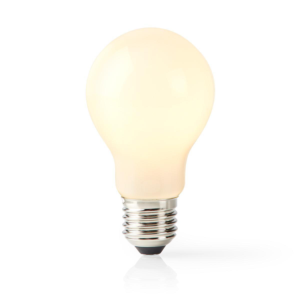 Slimme Led Lamp met wifi E27 fitting 2700K - warm wit - lamp aan
