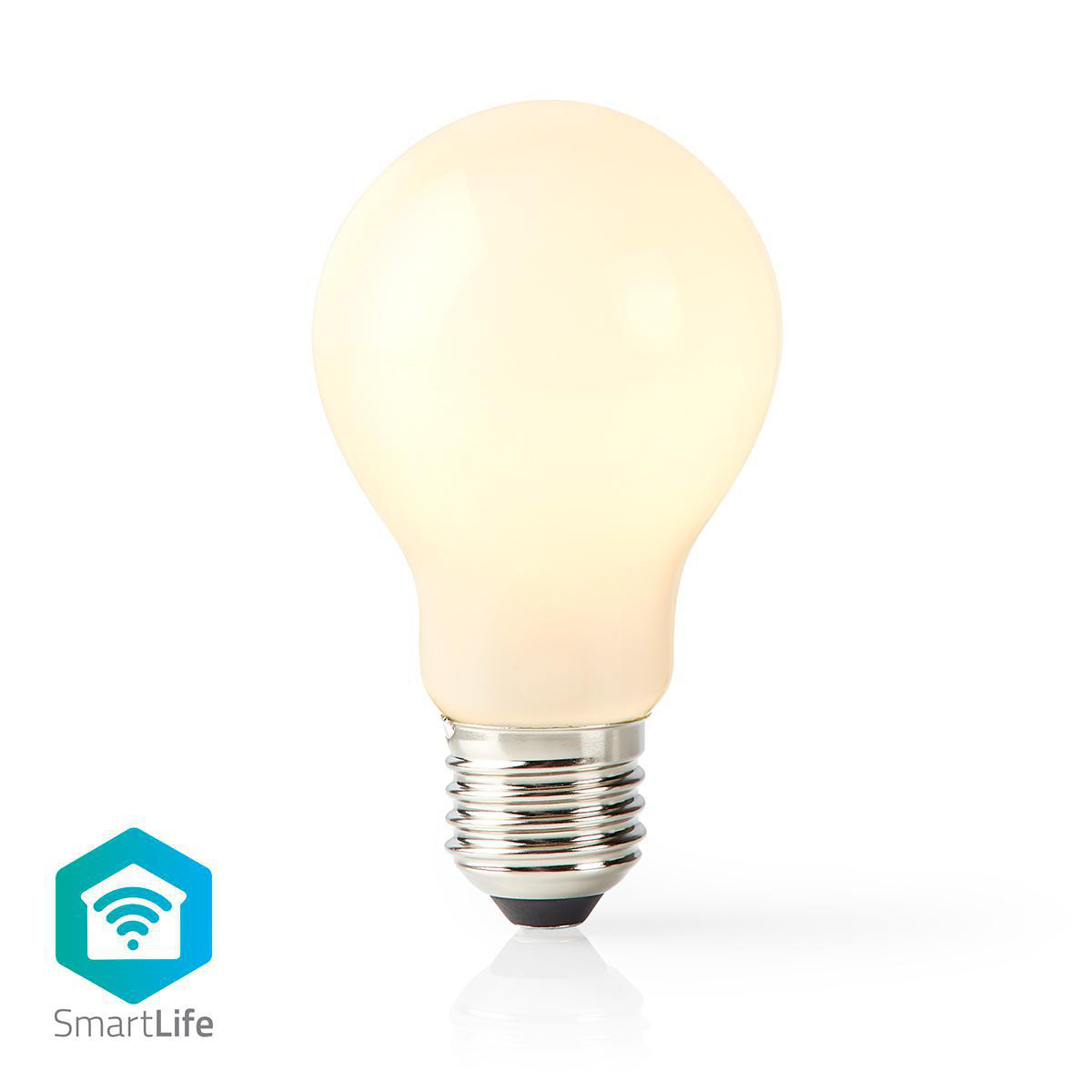 Slimme Led Lamp met wifi E27 fitting 2700K - warm wit - vooraanzicht lamp