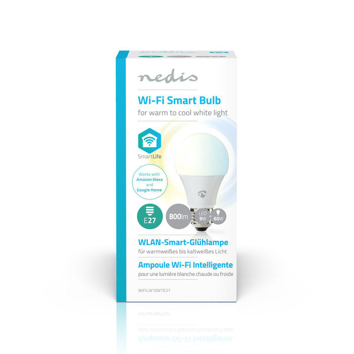 Slimme Wi-Fi Led Lamp 9 Watt CCT - Kleurwissel - voorkant verpakking