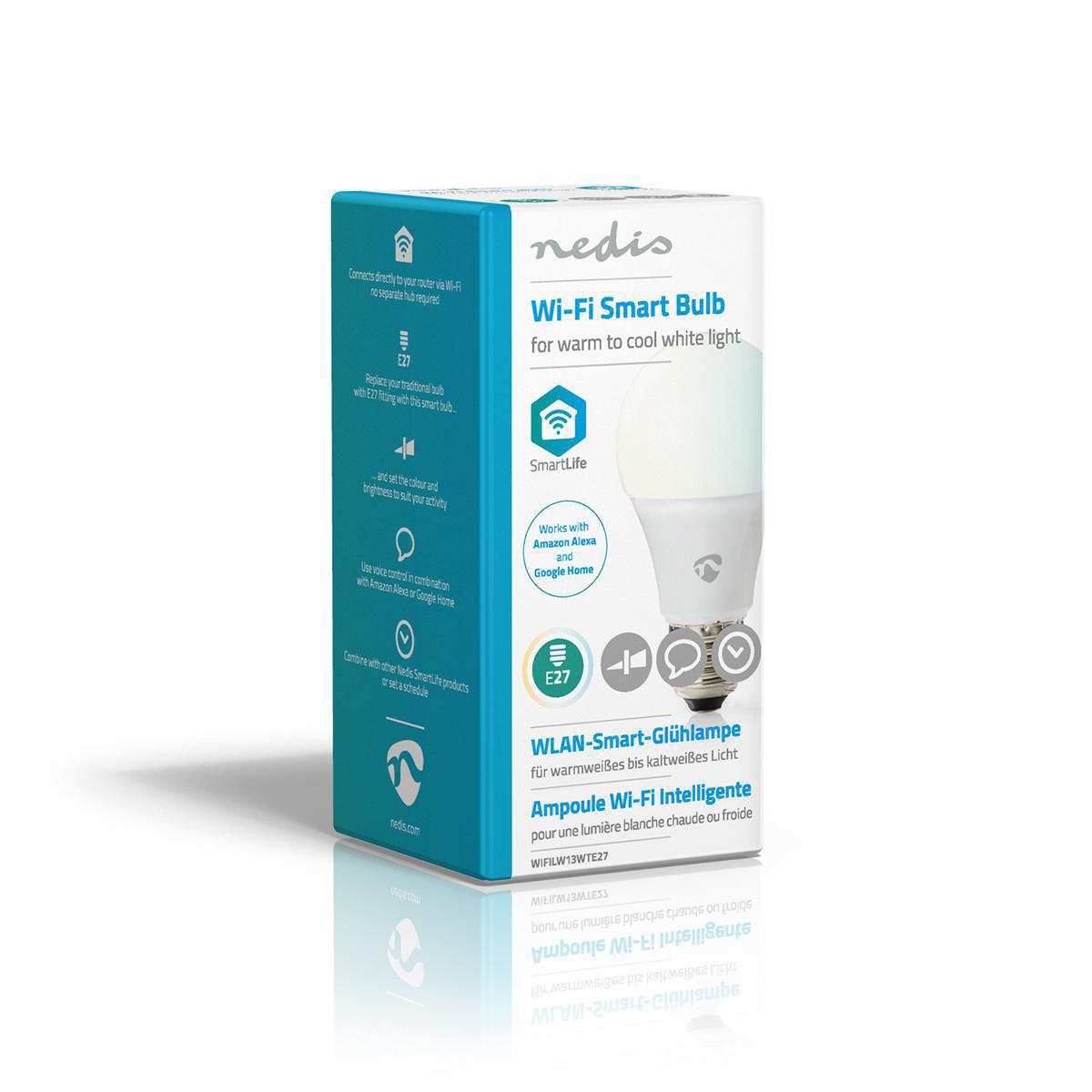 Slimme Wi-Fi Led Lamp 9 Watt CCT - Kleurwissel - zijaanzicht verpakking