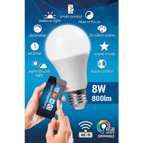 Wi-Fi Smart LED-Lamp | Full-Colour en Naturel Wit | E27 - besturing