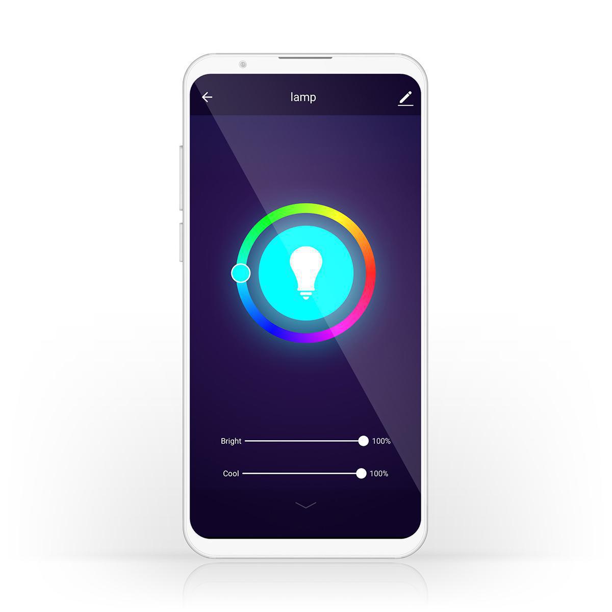 Wi-Fi Smart LED-Lamp | Full-Colour en Warm Wit | GU10 - bediening app