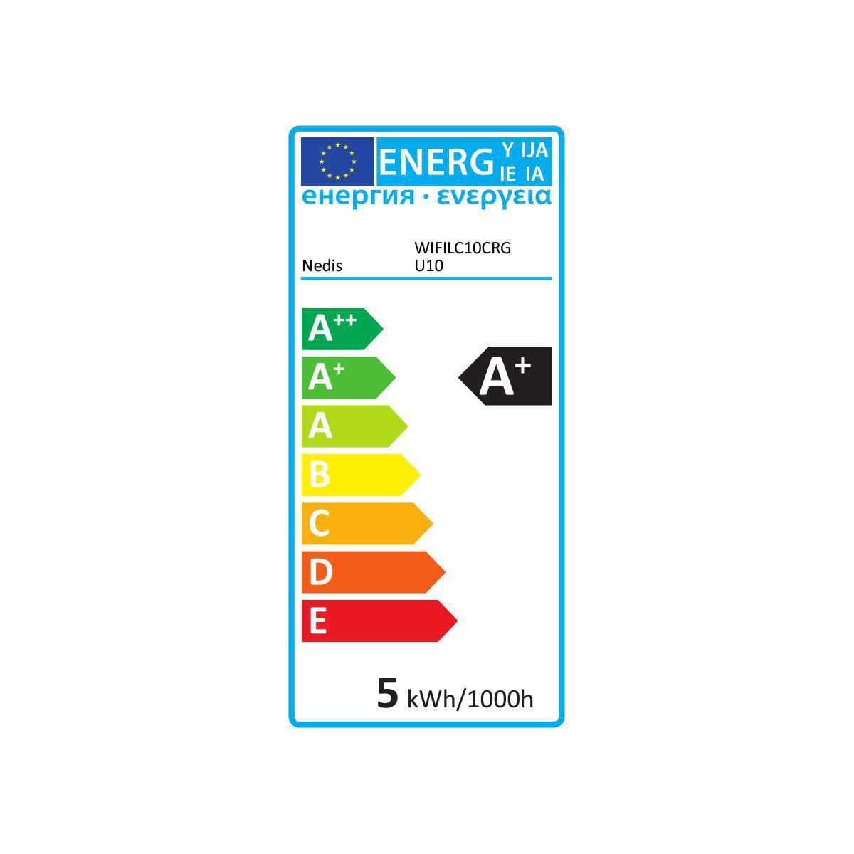 Wi-Fi Smart LED-Lamp | Full-Colour en Warm Wit | GU10 - energielabel