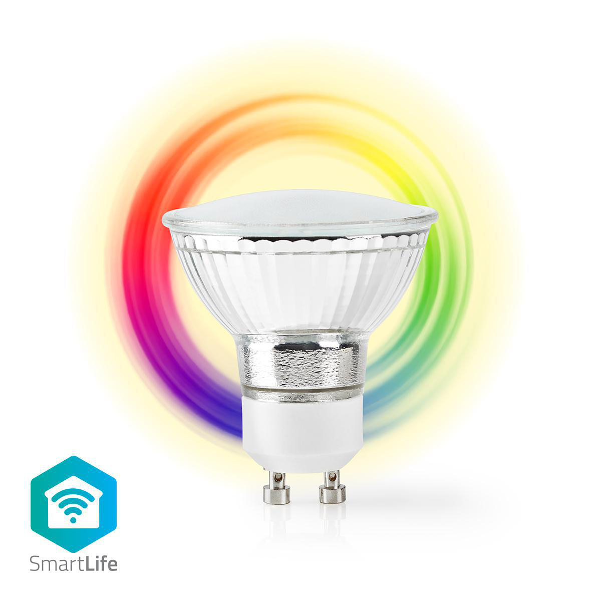 Wi-Fi Smart LED-Lamp | Full-Colour en Warm Wit | GU10 - spotje RGB