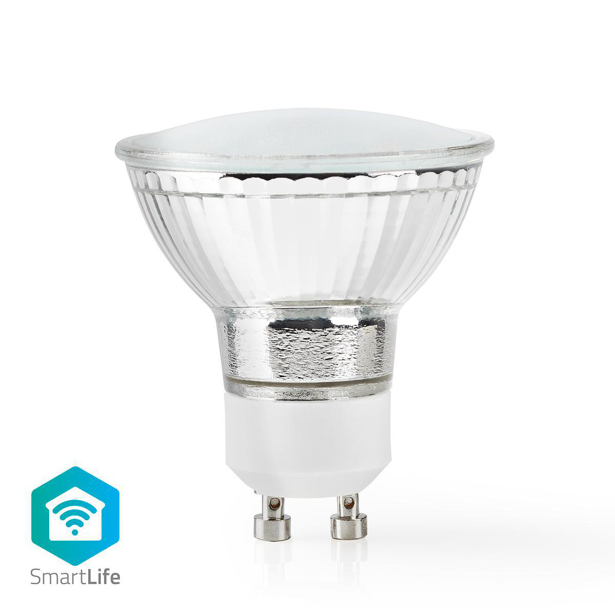Slimme Wi-Fi Led Lamp helder glas 4,5 Watt 2700K warm wit - vooraanzicht spot