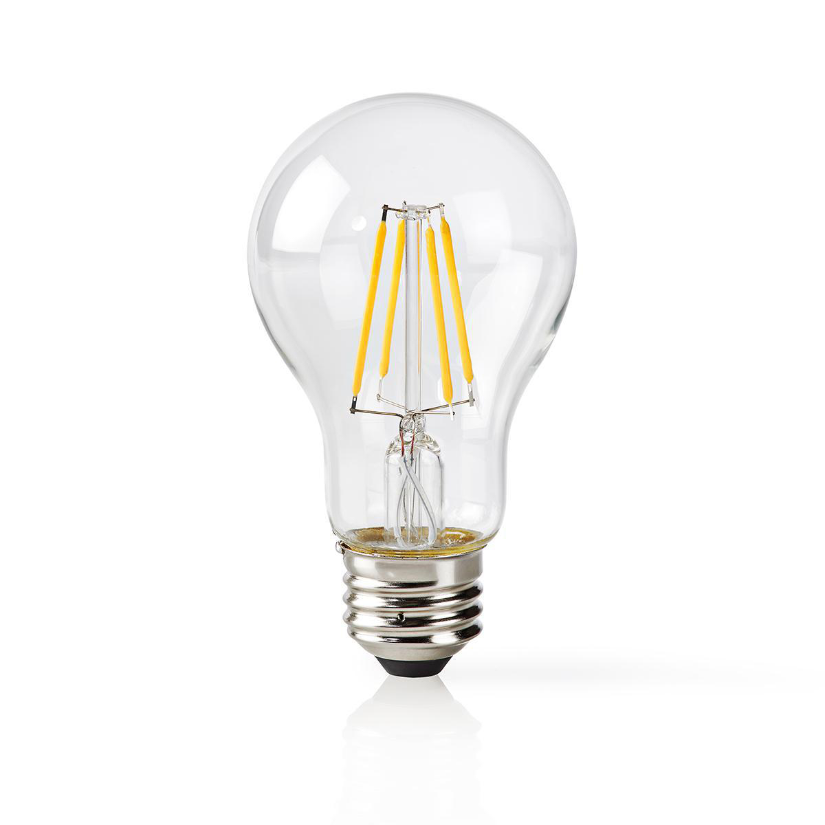 Slimme Wi-Fi Led Lamp helder glas 5 Watt 2700K warm wit - vooraanzicht lamp uit