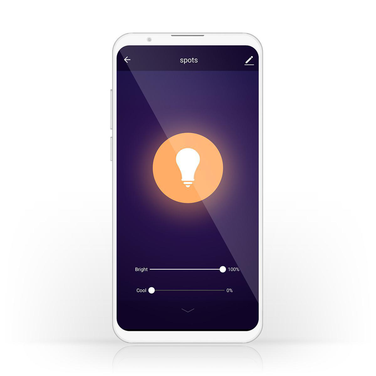 Slimme Led Edison Lamp met wifi E27 fitting 1800K - 6500K - bediening app