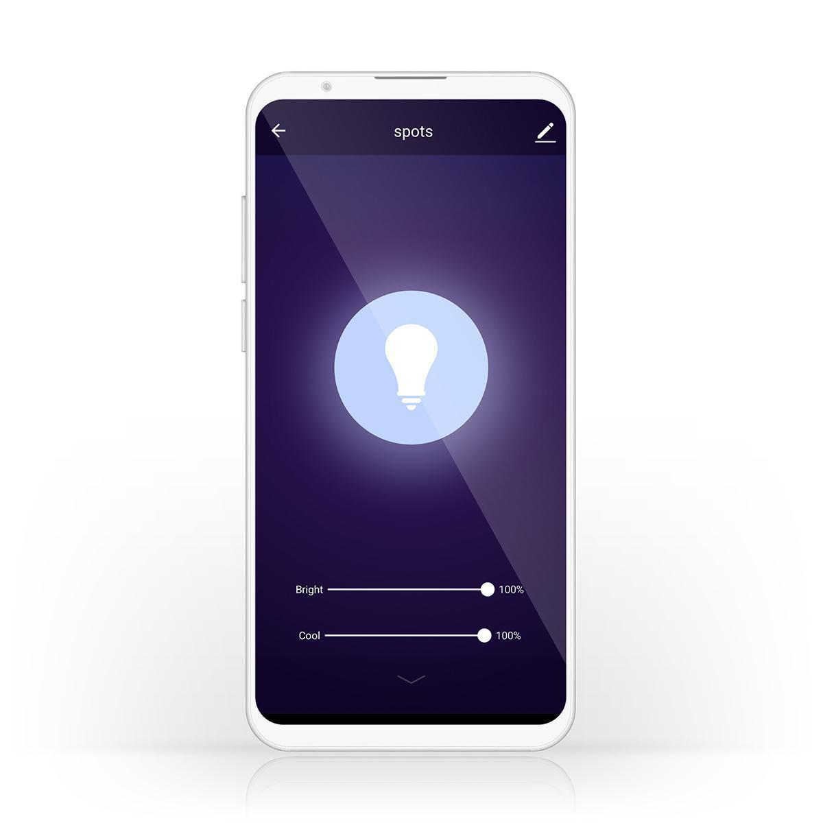 Slimme Led Edison Lamp met wifi E27 fitting 1800K - 6500K - bediening app