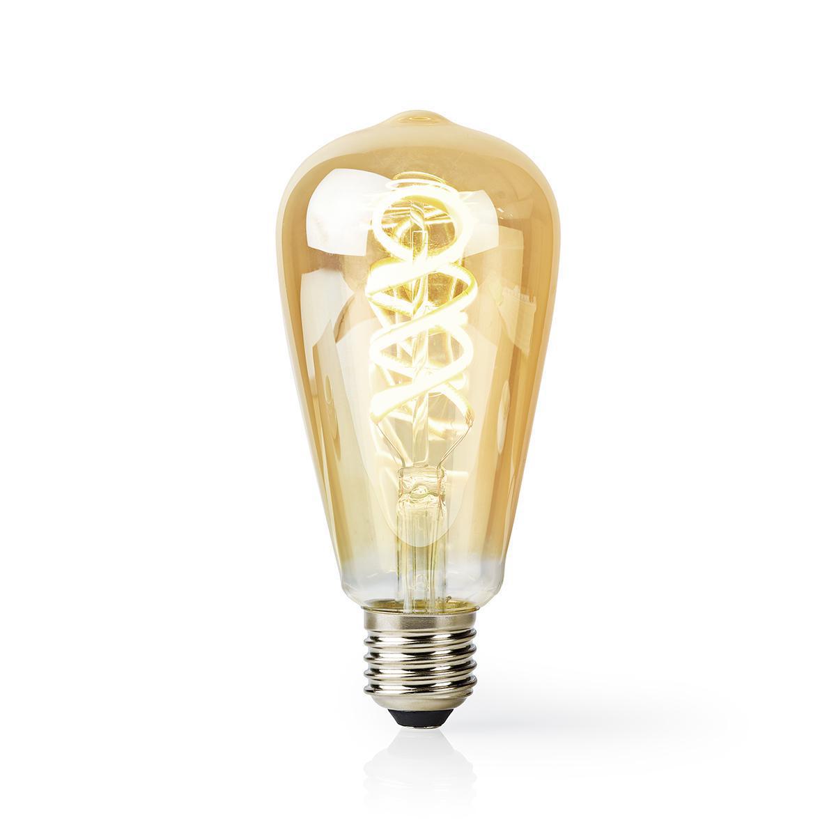Slimme Led Edison Lamp met wifi E27 fitting 1800K - 6500K - lamp aan