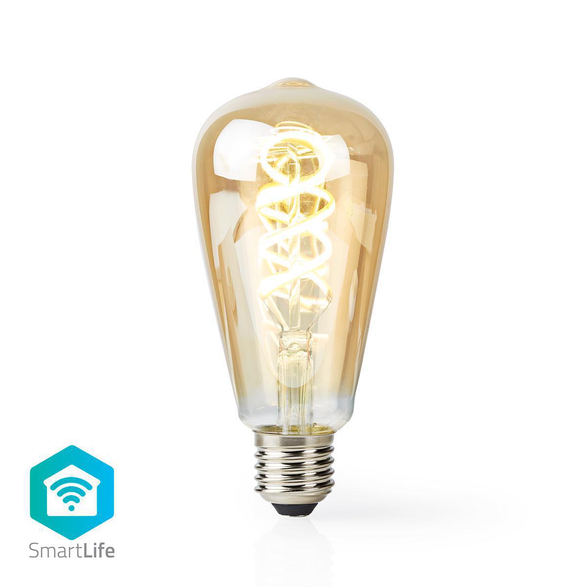 Slimme Led Edison Lamp met wifi E27 fitting 1800K - 6500K - vooraanzicht lamp