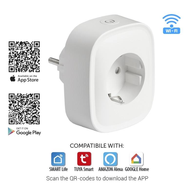 Slim stopcontact Wi-Fi 16A 3500 Watt - besturing apps