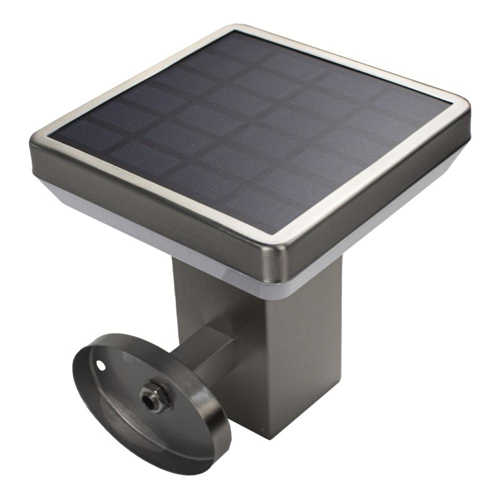 led wandlamp vierkant op solar met senor 4,4Watt 3000K - solarpaneel