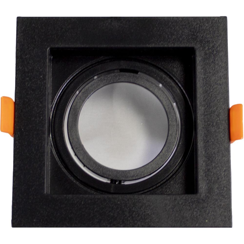 Spot armatuur MR16 - vierkant - zwart - 95x95mm - kantelbaar