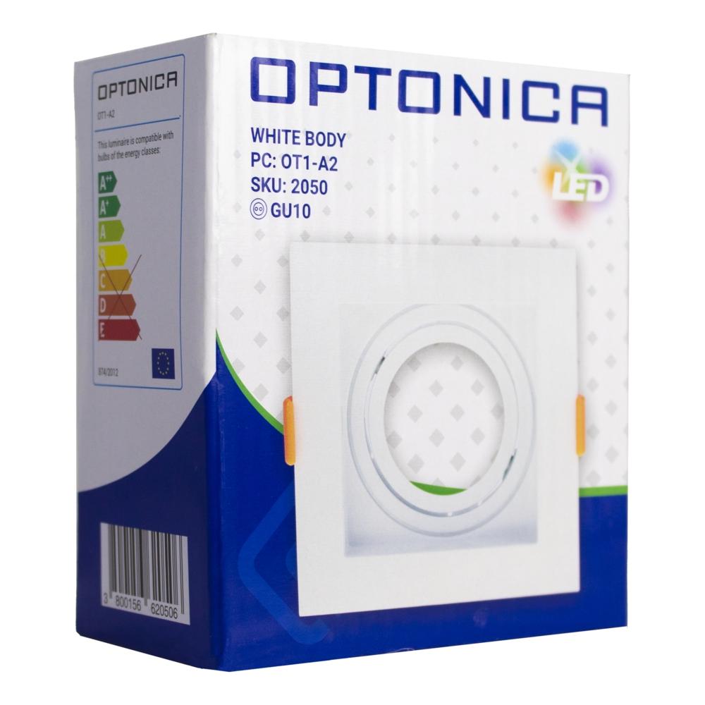 Spot armatuur - vierkant - zwart - 95x95mm - kantelbaar - wit - MR16 - incl. GU10 fitting - verpakking