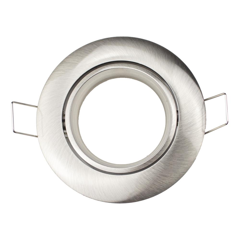 Spot armatuur - zonder klemveer - RVS - rond - 70mm - kantelbaar