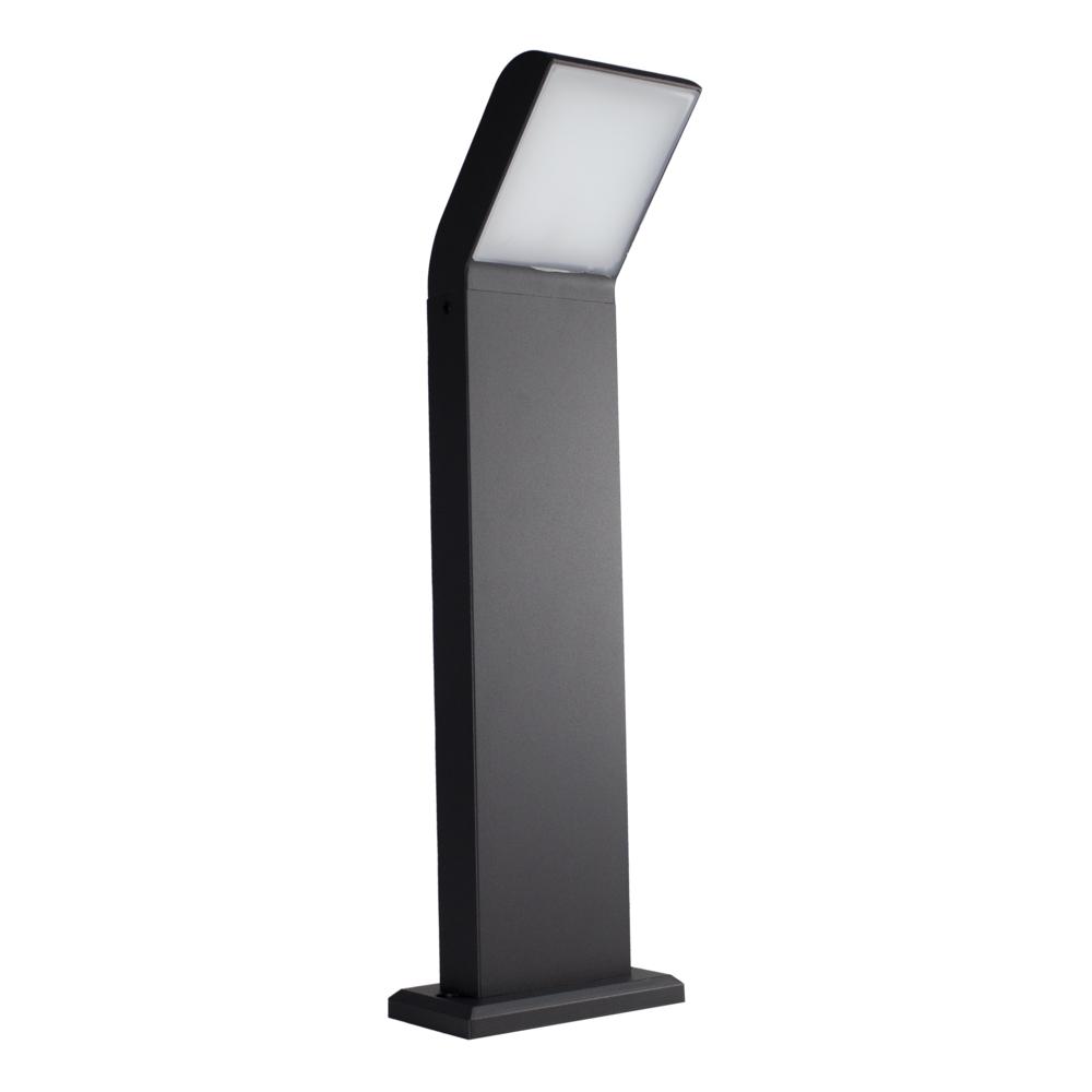Staande buitenlamp 12W IP54 zwart 50cm Clark - zwart - gekanteld - 12W - 4000K - schuinaanzicht